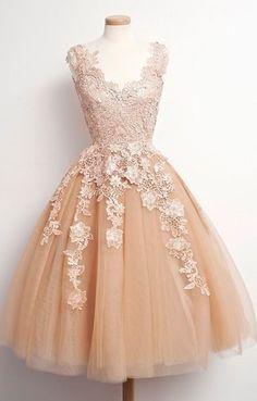 Champagne Prom Dress, A-Line Prom Dress