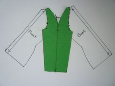 Drafting a Raglan Sleeve from a straight sleeve pattern.