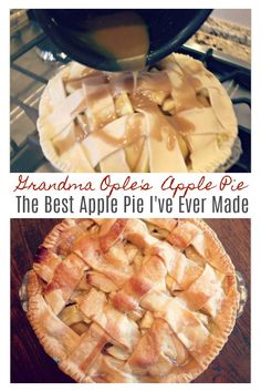 Grandma Ople's Famous Apple Pie The BEST Apple Pie I've Ever Made! With apple season in full swing, I decided to finally try an apple pie recipe I have been wanting to make for years, Apple Pie Recipe Easy, Best Apple Pie, Homemade Apple Pies, Apple Pie Recipes, Sweet Recipes, Baking Recipes, Dessert Recipes, Recipe Box, Grandma's Recipes
