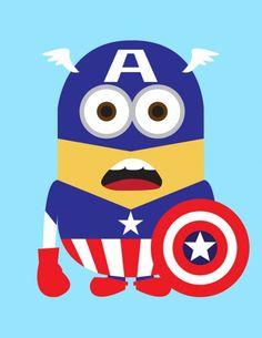 Minions de Meu Malvado Favorito como Super-Heróis da Marvel e DC Comics