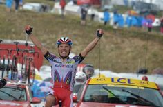 Stage 12 winner Joaquim Rodriguez. Lannemezan to Plateau de Beille.