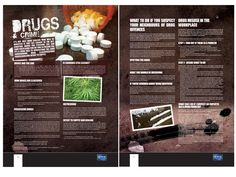 Double Page Spread for the Crime Prevention Initiative magazine issue 4, this was a feature on drugs
