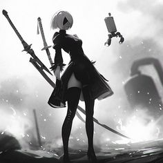 NieR: Automata's demo is AWESOME, so here's my yet another fan art! ✨