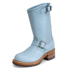 17014 Bota Piel Azul #Sendra #Outlet #Boots