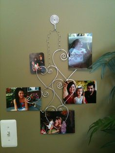 Photo Display Collage Heart Wall Hanger Picture Frames  FLOATING love HEARTS  WiRe ArT  Wedding Pictures. $45.00, via Etsy.