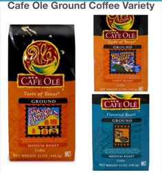 Cafe Ole GROUND Coffee Variety Pack San Antonio