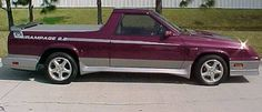1983 Dodge Rampage Turbo (cheesy as they were... I still loved them)