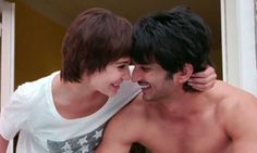 Sushant Singh Rajput And Anushka Sharma Sizzle In PK Movie Sushant Singh, Anushka Sharma, Bollywood Stars, Playing Guitar, Real Life, Singing, Actors, Songs