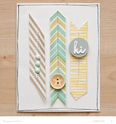 Hi Card by maggie holmes at @Studio_Calico