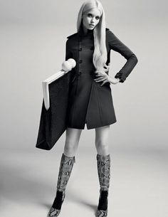 Abbey Lee Kershaw shot by Richard Bush & styled by Sarah Richardson for i-D