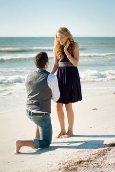 A Surprise Engagement on site!  Loving how this Romeo but it all together! Photograph by Karen Harrison Photography http://www.storyboardwedding.com/secrets-unfold-in-a-honeymoon-island-state-park-seaside-surprise-proposal/