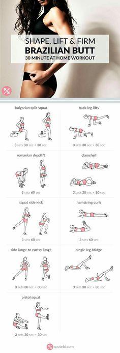 Shape, Lift, and Firm Brazilian Butt 30 minute Workout