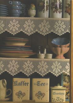 Needle-Works Butterfly: Filet Crochet Shelf-Edgings With Patterns
