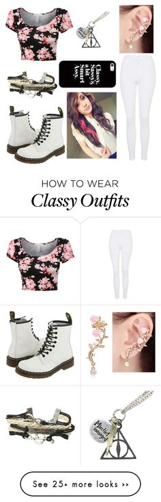 """Untitled #211"" by kestelling on Polyvore featuring Topshop, Dr. Martens and Casetify"