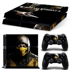 Mortal Kombat PS4 Vinyl Skin for Sony PS4 PlayStation 4 + 2 Controller PS4 Skin