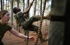 Female Marines learn combat skills