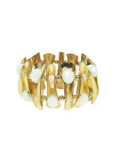 Pure Glam Bracelet - White $39.95 #leethal #accessories #fashion