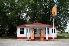 "Route 66 - Soulsby Service Station, Mt. Olive, Illinois. ""The Fine Art Photography of Frank Romeo."""