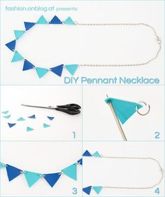 DIY Tutorial Summary: Bunting made of synthetic leather fabric remnants Jewelry Ideas, Diy Jewelry, Jewelery, Crafts To Do, Diy Crafts, Diy Shorts, Fabric Remnants, Textile Jewelry, Homemade Crafts