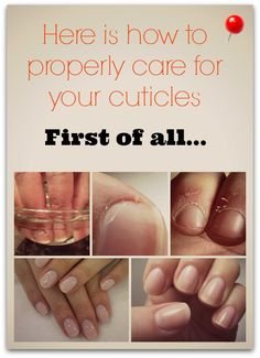 How to correctly take care of your cuticles
