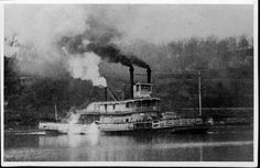 Kansas Memory Item of the Week: A photograph of Willie Cade, a steam ferry owned by Captain W. A. Cade. The ferry traveled the Missouri River between Leavenworth, Kansas, and East Leavenworth, Missouri. Date: between 1865 and 1870