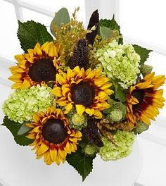 hydrangea and daisy flower arrangements - Google Search