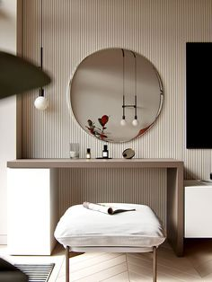99 models of console table shapes in the unique master bedroom ~ Top Home Design Office Interior Design, Office Interiors, Deco Interiors, Modern Dressing Table Designs, Dressing Room Design, Apartment Master Bedroom, Modern Bedroom, Bedroom Decor, Hotel Room Design