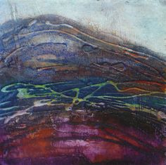 Winter Hill, collagraph monoprint by Janine Denby Collagraph Printmaking, Golden Lake, Drawing Sketches, Drawings, City Scene, Yorkshire Dales, Abstract Landscape, Landscapes, Gallery