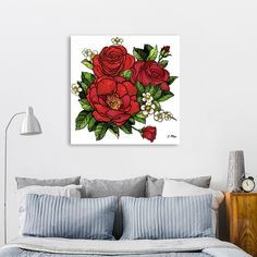 Discover «Wild Roses», Exclusive Edition Canvas Print by salome mikaberidze - From $59 - Curioos