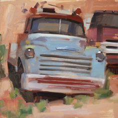 Carol Marine's Painting a Day Car Painting, Knife Painting, Truck Art, Country Art, Impressionism Art, Fine Art Gallery, Beautiful Paintings, Art Techniques, Art Cars