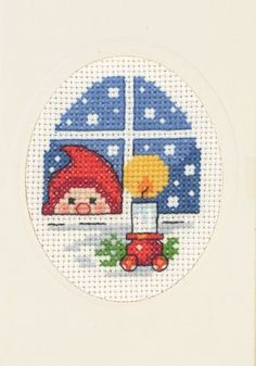 Christmas Cards - Permin UK Cross Stitch Christmas Cards, Santa Cross Stitch, Mini Cross Stitch, Cross Stitch Needles, Cross Stitch Cards, Christmas Cross, Cross Stitching, Cross Stitch Embroidery, Cross Stitch Designs