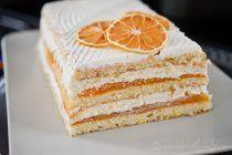 Prajitura cu crema de iaurt si jeleu de portocale Sweet Desserts, Vanilla Cake, Biscuits, Caramel, Sweets, Candy, Food, Projects, Hip Bones