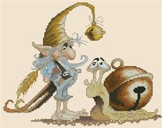 Gnome and His Snail by Pascal Moguerou