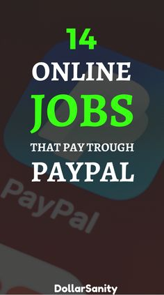 Get free paypal money with these legit online jobs. Ways To Earn Money, Earn Money From Home, Way To Make Money, Legit Online Jobs, Saving Money, Free, Earning Money, Internet Money, Save My Money