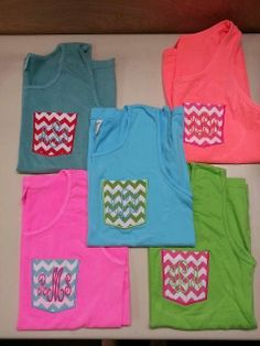Personalized Comfort Color Tank Top Frocket Tank ...