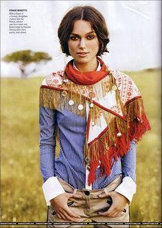 keira knightley in balenciaga scarf