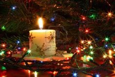 Christmas Candle and Candlelight