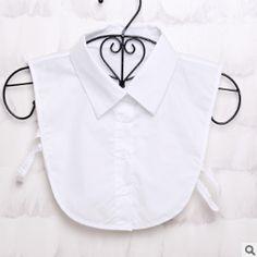 2018 Fake Collar Shirt Vintage White/Black Detachable Collar Vintage False Collars Nep Kraagje Blouse for Women Men Clothes Tops Lace Collar, Collar Blouse, Collar Shirts, Collar Top, Black And White Shirt, Black Blouse, Black Tie, Faux Col, Half Shirts