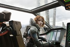 Michael Fassbender, Noomi Rapace and Chalize Theron in Prometheus
