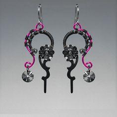 Clotho II Keres Very elegant Steampunk earrings