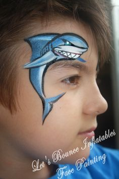 Boys Face Painting by Let's Bounce Inflatables, Vancouver BC