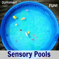 Sensory Pools for Summer- make swimming even more fun by adding some sensory play!