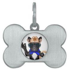 #cowboy pug - dog cowboy pet ID tag - #pettag #pettags #dogtag #dogtags #puppy #dog #dogs #pet #pets #cute #doggie