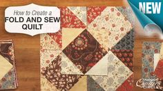 Fold and sew quilts are fun and easy projects that may be a good change of pace after you have completed a long, tedious quilt. http://www.nationalquilterscircle.com/video/fold-and-sew-quilts/?utm_source=pinterest&utm_medium=organic&utm_campaign=A219 #nqc #learnmorequiltmore #LetsQuilt