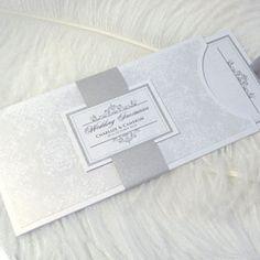 Winter Wedding Stationery Ideas Winter Stationery - Silver Invitation by PrimaDonna Stationery – The Knot