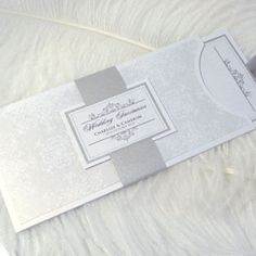 Winter Wedding Stationery Ideas Winter Stationery - Silver Invitation by PrimaDonna Stationery – The Knot