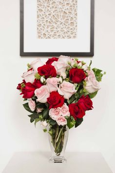 Perfect Valentine's Day gift - Cupid's Creation by Teleflora   Valentine's Day Flowers   Red Roses   Pink Roses   Valentine   #teleflora #flowers