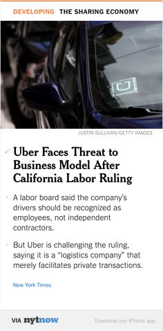 Is Your Uber Driver An Independent Contractor Or An Employee It