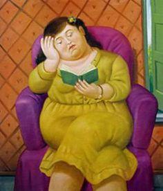 Mulher lendo, 2003 Fernando Botero (Colômbia, 1932) óleo sobre tela, 104 x 89 cm