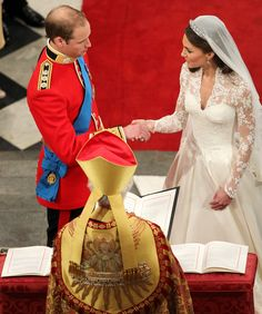 Prince William is married to his bride Catherine Middleton during their wedding at Westminster Abbey on April 29, 2011